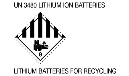 UN 3480 - LITHIUM ION BATTERIES FOR RECYCLING